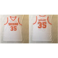 NCAA Texas Longhorns 35 Kevin Durant White Stitched College Basketball Men Jersey