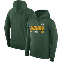 Green Bay Packers Nike Team Name Performance Pullover Hoodie Green