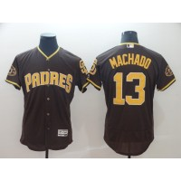 MLB Padres 13 Manny Machado Brown Flex Base Men Jersey