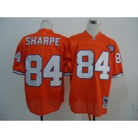 NFL Broncos 84 Shannon Sharpe Orange 75TH Throwback  Men Jersey
