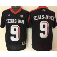 NCAA Texas A&M Aggies 9 Ricky Seals-Jones Black College Football Adidas Men Jersey