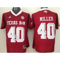 NCAA Texas A&M Aggies 40 Von Miller Red College Football Adidas Men Jersey