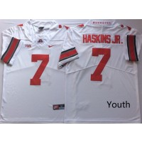 NCAA Ohio State Buckeyes 7 Dwayne Haskins Jr White College Football Youth Jersey