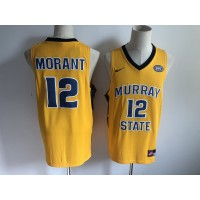NCAA Murray State 12 Ja Morant Basketball Yellow Men Jersey