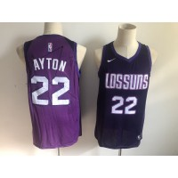 NBA Suns 22 Deandre Ayton Purple City Edition Nike Swingman Men Jersey