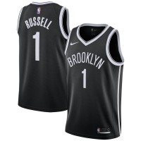 NBA Nets 1 D'Angelo Russell Black Nike Swingman Men Jersey
