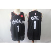 NBA Nets 1 D'Angelo Russell Black City Edition Nike Swingman Men Jersey