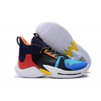 "Russell Westbrook Jordan ""Why Not?"" Zer0.2 Chaos Multi-Color/Total Crimson-Sail Shoes"