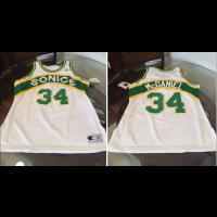 NBA Seattle Supersonics 34 Xavier McDaniel White Men Jersey