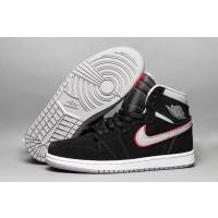 Air Jordan 1 Mid Black Shoes