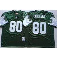 NFL Jets 80 Wayne Chrebet Green M&N Throwback Men Jersey