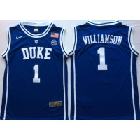 NCAA Duke Blue Devils 1 Zion Williamson Blue College Basketball Men Jersey