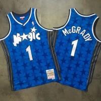 NBA Magic 1 Tracy McGrady Blue 2000-01 Hardwood Classics Swingman Men Jersey