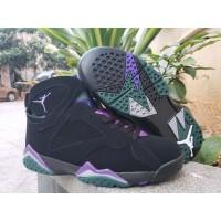 Air Jordan 7 Ray Allen Black Purple Shoes