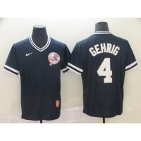 MLB Yankees 4 Lou Gehrig Navy Nike Cooperstown Collection Legend V-Neck Men Jersey
