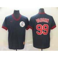 MLB Indians 99 Ricky Vaughn Navy Nike Cooperstown Collection Legend V-Neck Men Jersey