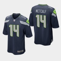 Nike Seahawks 14 D.K. Metcalf Navy 2019 NFL Draft Elite Men Jersey
