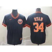 MLB Astros 34 Nolan Ryan Navy Nike Cooperstown Collection Legend V-Neck Men Jersey