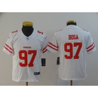 Nike 49ers 97 Nick Bosa White Vapor Untouchable Limited Youth Jersey