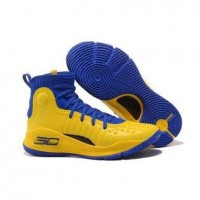 Curry 4 Under Armour High Blue/Yellow Basketball Shoes