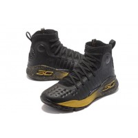 Curry 4 Under Armour High Black/Yellow Basketball Shoes