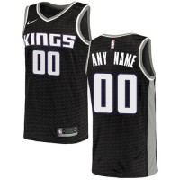 NBA Kings Black Sacramento Customized Men Jersey