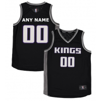 NBA Kings Black Sacramento Customized Toddler Jersey