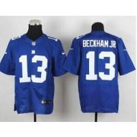 New York Giants No.13 Odell Beckham Jr. Blue Men's Football Elite Jersey
