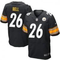 Pittsburgh Steelers No.26 Le'Veon Bell Black Men's Football Elite Jersey