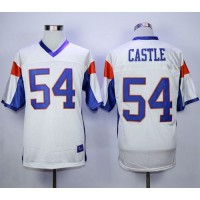 Blue Mountain State 54 Thad Castle White Stitched Football Movie Jersey