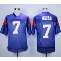 Blue Mountain State 7 Alex Moran Blue Stitched Football Movie Jersey