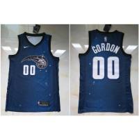 NBA Magic 00 Aaron Gordon City Editon Royal Blue Men Jersey