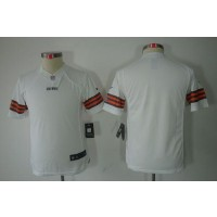 Youth Nike Cleveland Browns Blank White NFL Limited Jersey