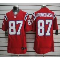 Nike New England Patriots No.87 Rob Gronkowski Red Elite Jersey