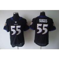 bf7f10ddb2c Nike NFL Baltimore Ravens 55 Terrell Suggs Black NFL Elite Football Jersey