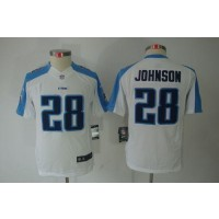 Youth Nike Tennessee Titans 28 Chris Johnson White NFL Limited Jersey