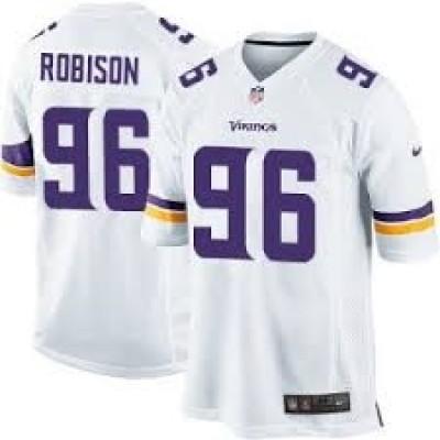 Vikings 96 Brian Robison  white elite jersey