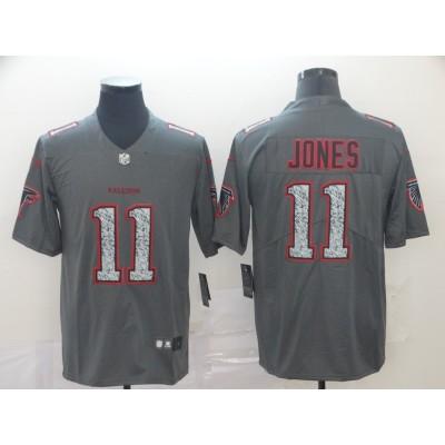 Nike Falcons 11 Julio Jones Gray Static Vapor Untouchable Limited Men Jersey