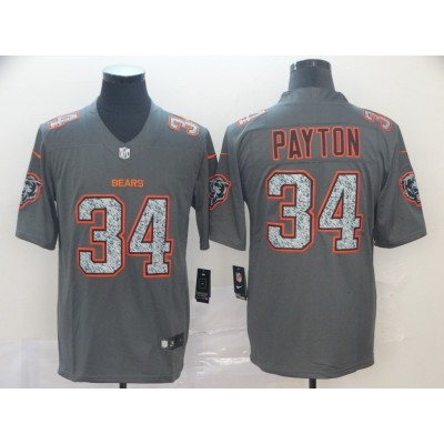 Nike Bears 34 Walter Payton Gray Static Vapor Untouchable Limited Men Jersey