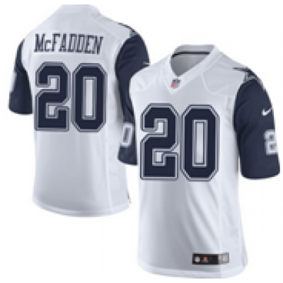 Nike Cowboys 20 Darren McFadden Color Rush White NFL Elite Jersey