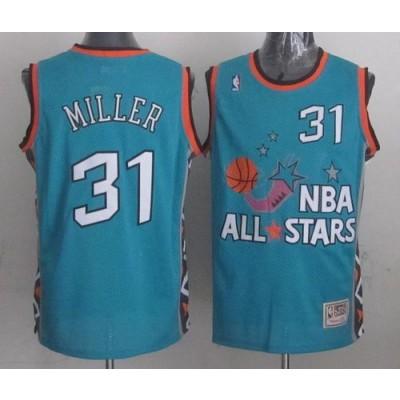 NBA Pacers 31 Reggie Miller Light Blue 1996 All Star Mitchell And Ness Men Jersey