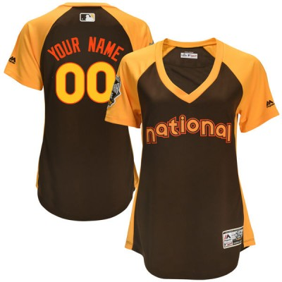 MLB National League Brown Cool Base 2016 All-Star National Custom Women Jersey
