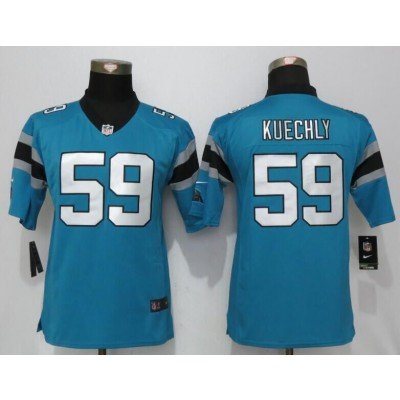 Nike Panthers 59 Luke Kuechly Blue Youth Game Jersey