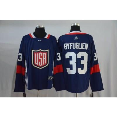 Hockey Team USA 33 Dustin Byfuglien Navy Blue 2016 World Cup Men Jersey