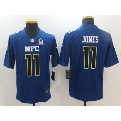 Nike NFL Falcons 11 Julio Jones NFC Navy 2017 Pro Bowl Game Jersey