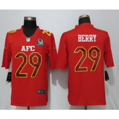 Nike NFL Chiefs 29 Eric Berry AFC Red 2017 Pro Bowl Game Jersey