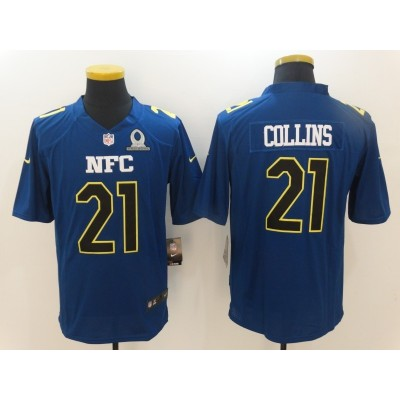 Nike NFL Giants 21 Landon Collins NFC Navy 2017 Pro Bowl Game Jersey