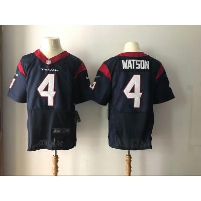Nike Texans 4 Deshaun Watson 2017 NFL Draft Navy Elite Jersey