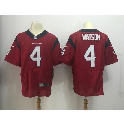 Nike Texans 4 Deshaun Watson 2017 NFL Draft Red Elite Jersey
