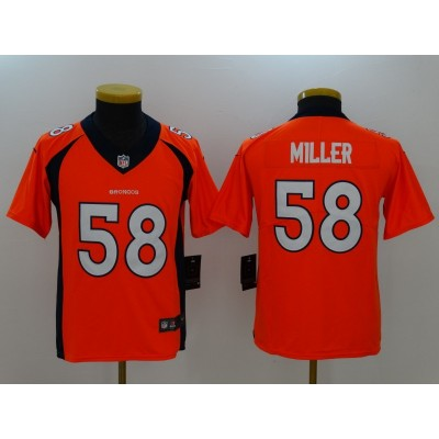 Nike Broncos 58 Von Miller Orange Vapor Untouchable Youth Limited Jersey